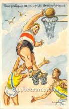 spo001094 - Old Vintage Basketball Postcard Post Card