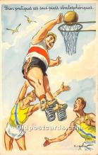spo001095 - Old Vintage Basketball Postcard Post Card