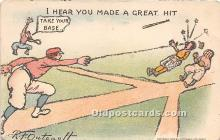 spo002605 - Old Vintage Baseball Postcard Post Card