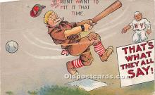 spo002641 - Old Vintage Baseball Postcard Post Card