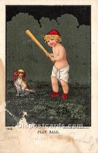 spo002655 - Old Vintage Baseball Postcard Post Card