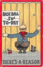 spo002659 - Old Vintage Baseball Postcard Post Card