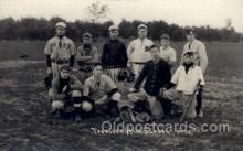 spo003121 - Townsend MA, USA? HS  1910 Base Ball Baseball Real Photo Postcards Post Card