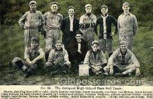 spo003680 - The Freeport High School Base Ball Team Baseball, Old Vintage Antique Postcard Post Cards