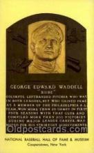 spo003802 - George Edward Waddell Baseball Hall of Fame Card, Old Vintage Antique Postcard Post Card