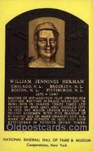 spo003803 - William Jennings Herman Baseball Hall of Fame Card, Old Vintage Antique Postcard Post Card