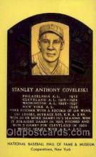 spo003805 - Stanley Anthony Coveleski Baseball Hall of Fame Card, Old Vintage Antique Postcard Post Card