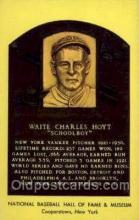 spo003806 - Waite Charles Hoyt Baseball Hall of Fame Card, Old Vintage Antique Postcard Post Card