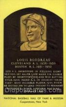 spo003807 - Louis Boudreau Baseball Hall of Fame Card, Old Vintage Antique Postcard Post Card