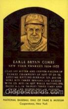 spo003808 - Earle Bryan Combs Baseball Hall of Fame Card, Old Vintage Antique Postcard Post Card