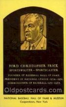spo003809 - Ford Christopher Frick Baseball Hall of Fame Card, Old Vintage Antique Postcard Post Card