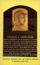 spo003811 - Charles L Gehringer Baseball Hall of Fame Card, Old Vintage Antique Postcard Post Card