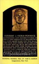 spo003813 - Herbert J Herb Pennock Baseball Hall of Fame Card, Old Vintage Antique Postcard Post Card