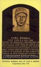 spo003814 - Carl Hubbell Baseball Hall of Fame Card, Old Vintage Antique Postcard Post Card