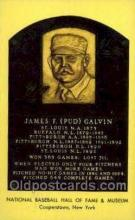 spo003815 - James F pud Galvin Baseball Hall of Fame Card, Old Vintage Antique Postcard Post Card