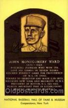 spo003816 - John Montgomery Ward Baseball Hall of Fame Card, Old Vintage Antique Postcard Post Card