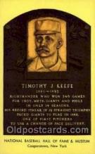 spo003818 - Timothy J Keefe Baseball Hall of Fame Card, Old Vintage Antique Postcard Post Card
