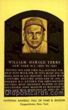 spo003819 - William Harold Terry Baseball Hall of Fame Card, Old Vintage Antique Postcard Post Card
