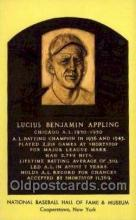 spo003822 - Lucius Benjamin Appling Baseball Hall of Fame Card, Old Vintage Antique Postcard Post Card