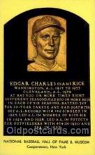 spo003824 - Edgar Charles Rice Baseball Hall of Fame Card, Old Vintage Antique Postcard Post Card