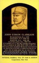 spo003826 - John Gibson Clarkson Baseball Hall of Fame Card, Old Vintage Antique Postcard Post Card