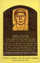 spo003827 - Ed J Roush Baseball Hall of Fame Card, Old Vintage Antique Postcard Post Card