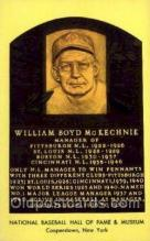 spo003828 - William Boyd McKechnie Baseball Hall of Fame Card, Old Vintage Antique Postcard Post Card