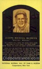 spo003829 - Joseph Michael Medwick Baseball Hall of Fame Card, Old Vintage Antique Postcard Post Card