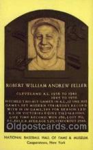 spo003832 - Robert William Andrew Feller Baseball Hall of Fame Card, Old Vintage Antique Postcard Post Card