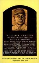 spo003833 - William R Hamilton Baseball Hall of Fame Card, Old Vintage Antique Postcard Post Card