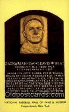 spo003835 - Zachariah Zack Davis Wheat Baseball Hall of Fame Card, Old Vintage Antique Postcard Post Card