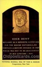 spo003838 - Hugh Duffy Baseball Hall of Fame Card, Old Vintage Antique Postcard Post Card