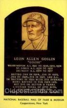 spo003841 - Leon Allen Coslin Baseball Hall of Fame Card, Old Vintage Antique Postcard Post Card