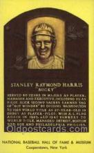 spo003843 - Stanley Raymond Harris Baseball Hall of Fame Card, Old Vintage Antique Postcard Post Card