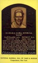 spo003844 - Howard Earl Averill Baseball Hall of Fame Card, Old Vintage Antique Postcard Post Card