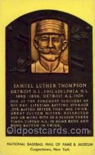 spo003845 - Samuel Luther Thompson Baseball Hall of Fame Card, Old Vintage Antique Postcard Post Card