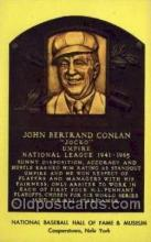 spo003847 - John Bertrand Conlan Baseball Hall of Fame Card, Old Vintage Antique Postcard Post Card