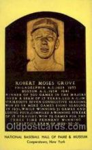 spo003849 - Robert Moses Grove Baseball Hall of Fame Card, Old Vintage Antique Postcard Post Card