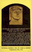 spo003850 - Charles Leo Gabby Hartnett Baseball Hall of Fame Card, Old Vintage Antique Postcard Post Card