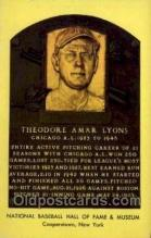 spo003851 - Theodore Amar Lyons Baseball Hall of Fame Card, Old Vintage Antique Postcard Post Card