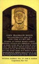 spo003853 - John Franklin Baker Baseball Hall of Fame Card, Old Vintage Antique Postcard Post Card
