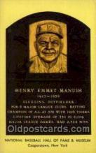 spo003857 - Henry Emmet Manush Baseball Hall of Fame Card, Old Vintage Antique Postcard Post Card