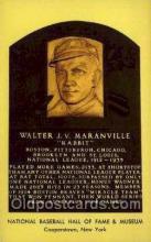 spo003858 - Walter JV Maranville Baseball Hall of Fame Card, Old Vintage Antique Postcard Post Card