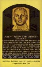 spo003859 - Joseph Jerome McGinnity Baseball Hall of Fame Card, Old Vintage Antique Postcard Post Card