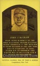 spo003860 - John J McGraw Baseball Hall of Fame Card, Old Vintage Antique Postcard Post Card