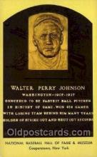 spo003862 - Walter Perry Johnson Baseball Hall of Fame Card, Old Vintage Antique Postcard Post Card