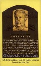 spo003863 - Harry Wright Baseball Hall of Fame Card, Old Vintage Antique Postcard Post Card