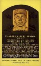 spo003865 - Charles Albert Bender Baseball Hall of Fame Card, Old Vintage Antique Postcard Post Card
