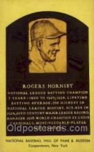 spo003866 - Rogers Hornsby Baseball Hall of Fame Card, Old Vintage Antique Postcard Post Card