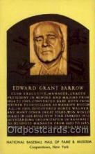spo003867 - Edward Grant Barrow Baseball Hall of Fame Card, Old Vintage Antique Postcard Post Card